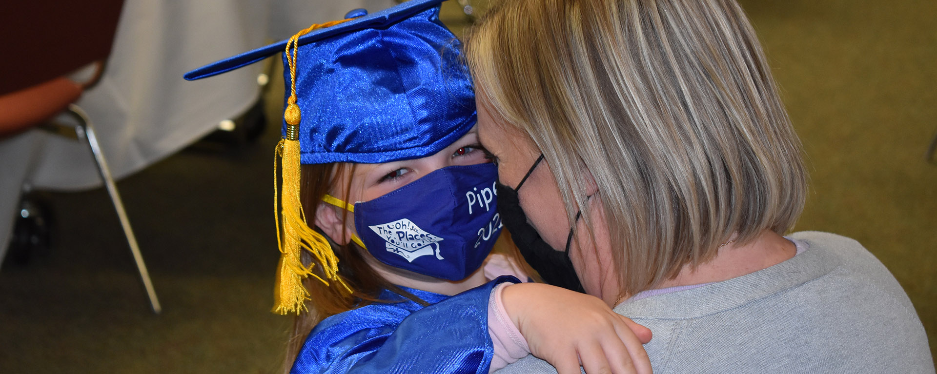 Little Learners graduate with mother